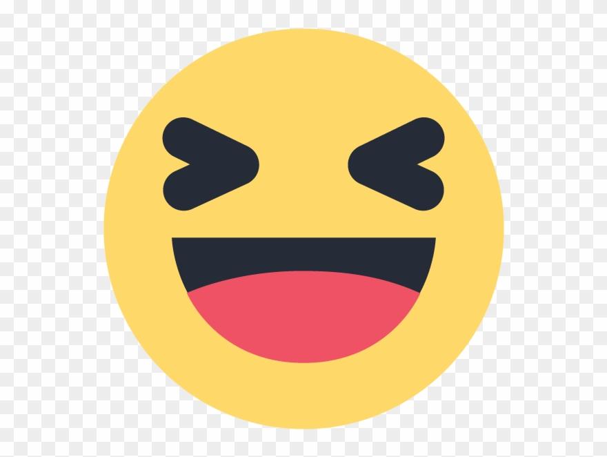 Facebook Haha Emoji Emoticon Vector Logo.