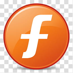 Facebook , white and orange f logo art transparent.