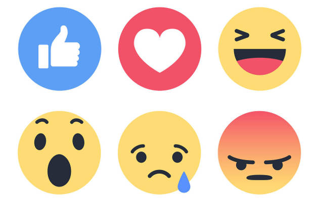 The Definitive Ranking of the 6 Facebook Reactions.