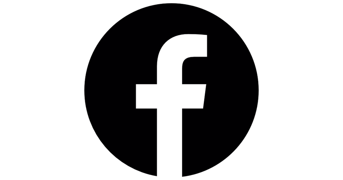 Facebook circular logo.