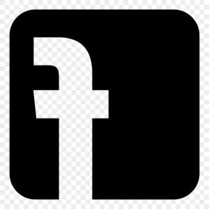 Black White Facebook Logo Vector Ai File Easily Editable Have White.