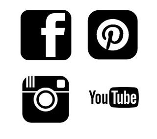 Pinterest, Facebook, Instagram and Youtube.