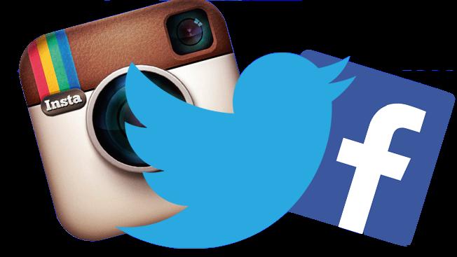 Facebook twitter instagram png, Facebook twitter instagram.