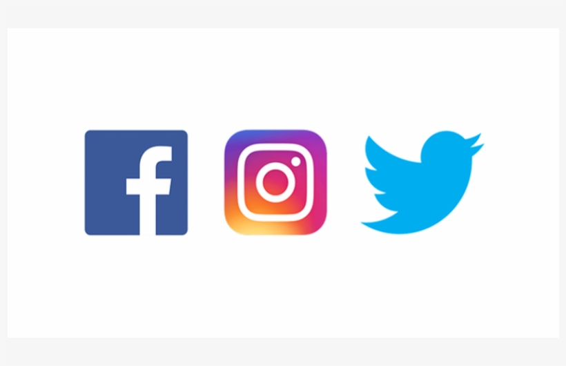 Logos For Instagram, Twitter, And Facebook.