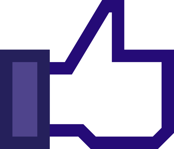 Facebook like clipart image.