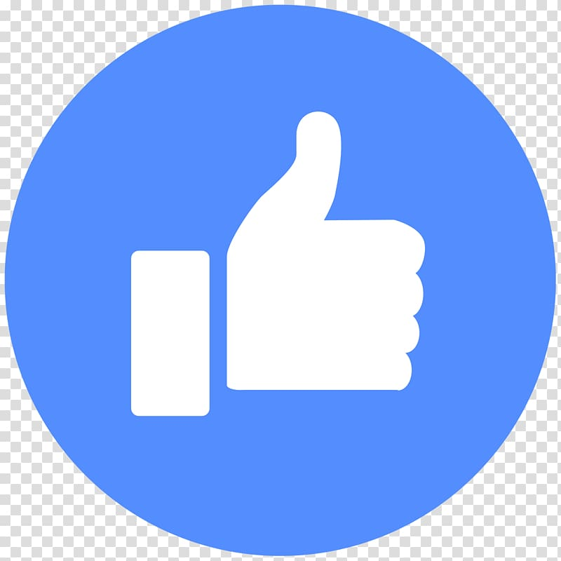 YouTube Facebook like button Emoticon, Thumbs up, like icon.
