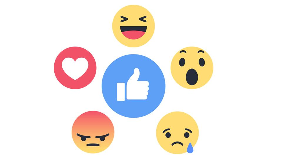 How to Love, Wow, Angry, Sad and Haha on Facebook.
