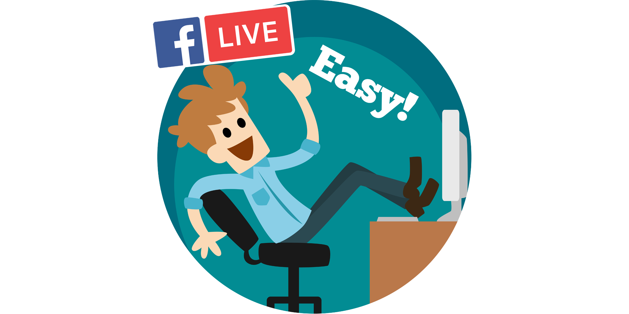Facebook Live Clipart.