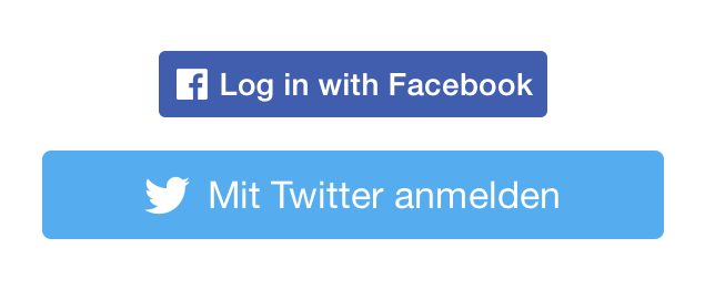 iOS: Is it possible to resize Twitter and/or Facebook login button.