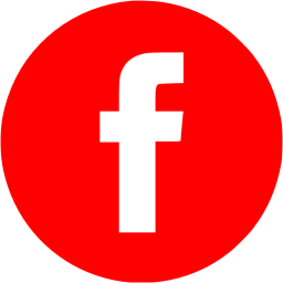 Red facebook 4 icon.