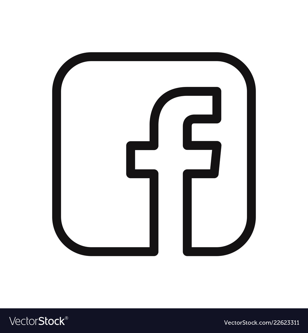 F letter icon facebook logo.