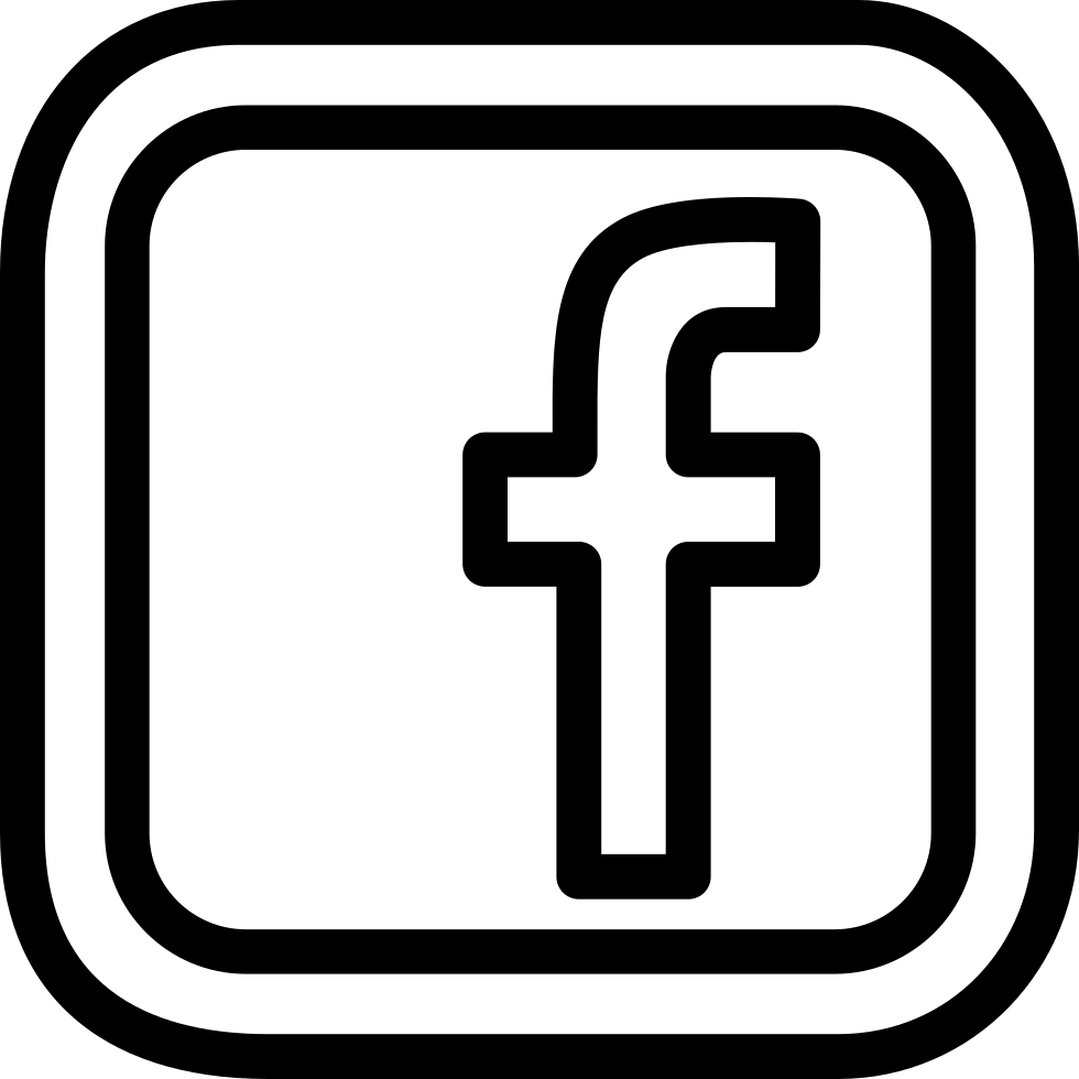 Facebook Social Letter Logo Outline Inside Double Rounded.