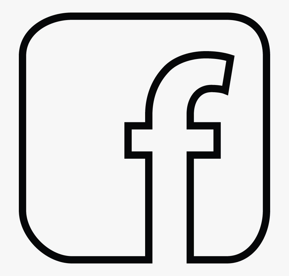 White Facebook Icon Outline.