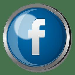 Facebook 3D silver icon.