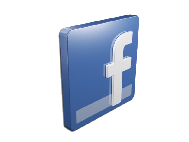 Facebook Icons And Logos 3d Model.