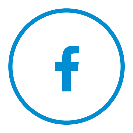 Circular facebook media share social icon.
