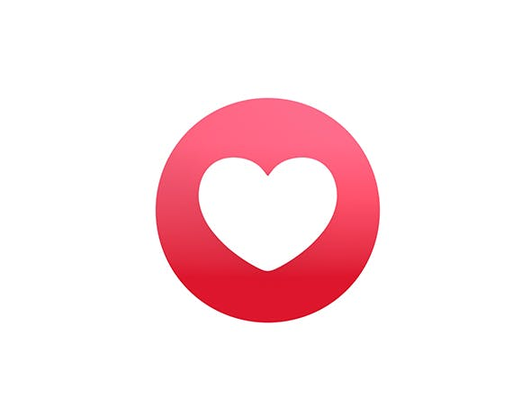 Animated Facebook Love Reaction Button by BariaCG.