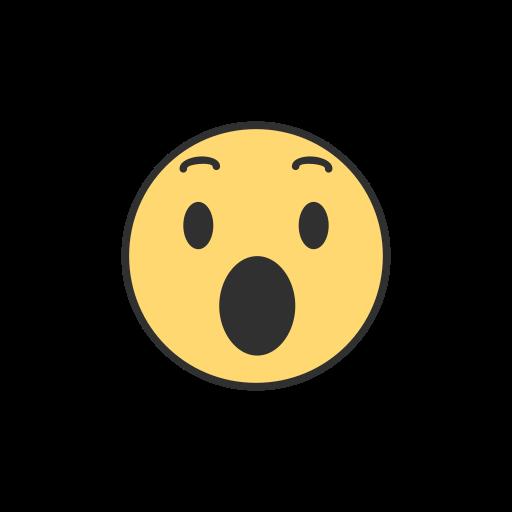 Emoji, facebook, reaction, shocked emoji icon.