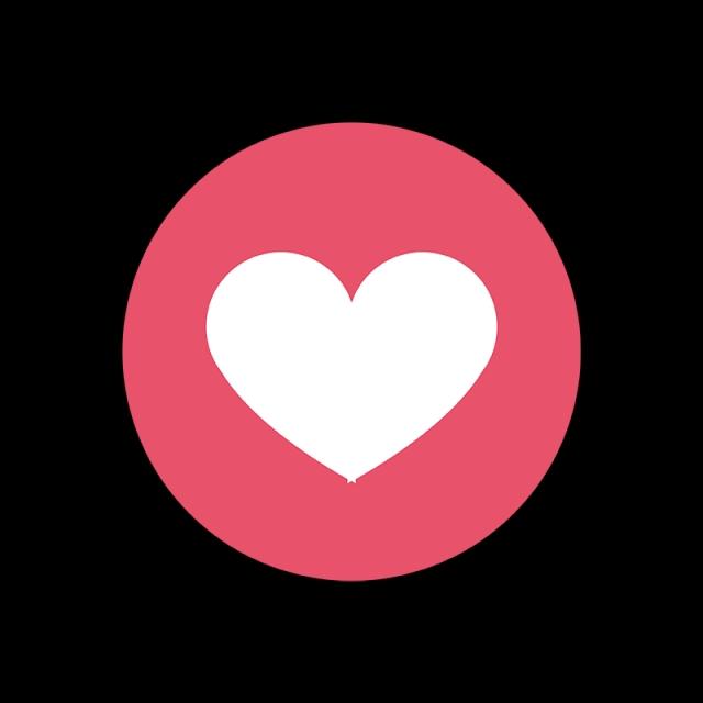 Facebook Love Icon, Facebook Reactions, Social, Media PNG and Vector.