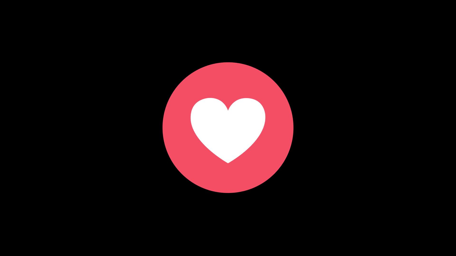 Facebook Reaction Love 1080p Motion Background.