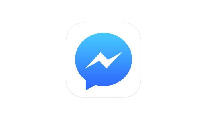 Facebook messenger logo clipart.
