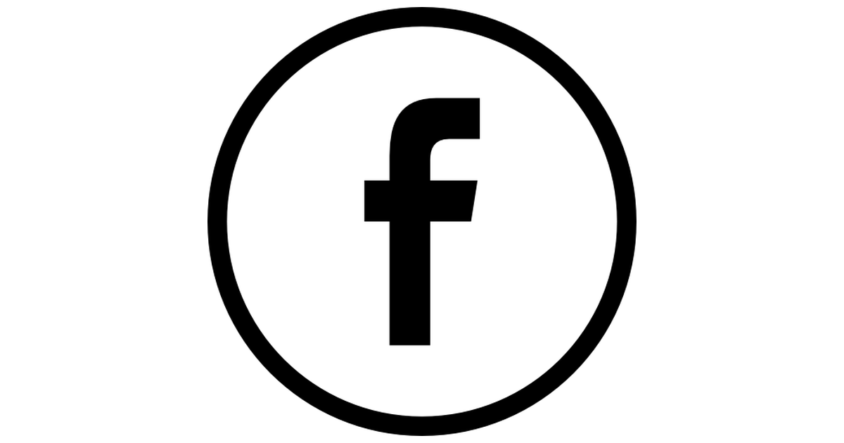 Facebook logo in circular button outlined social symbol.
