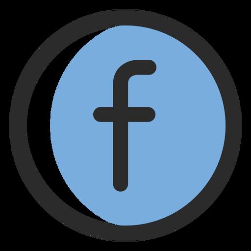 Facebook colored stroke icon.