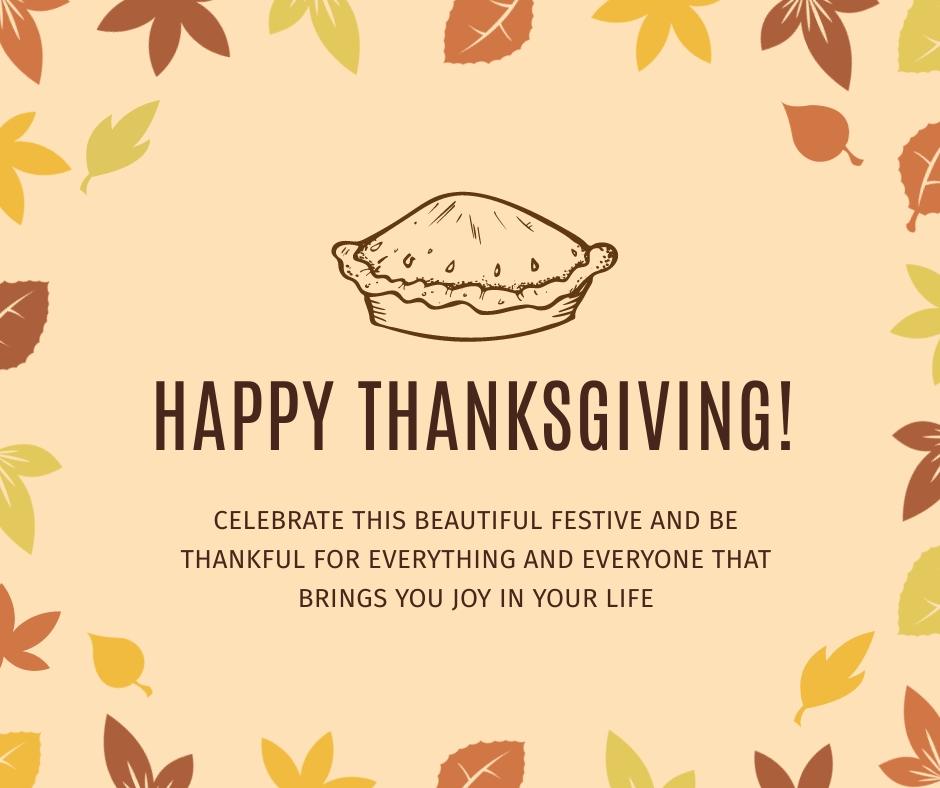 Thanksgiving Festive Facebook Post Template.