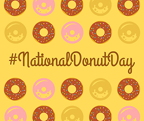 National Donut Day Facebook Post Template.