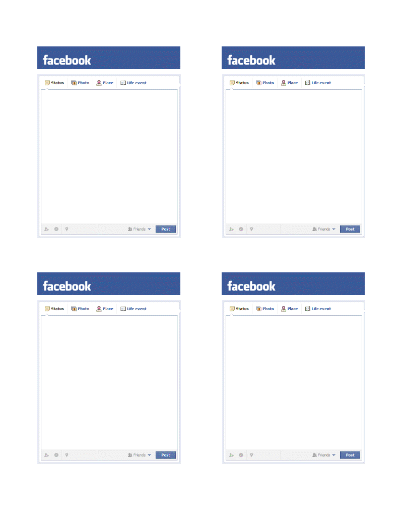PL Facebook Status Update Template for Project Life!.