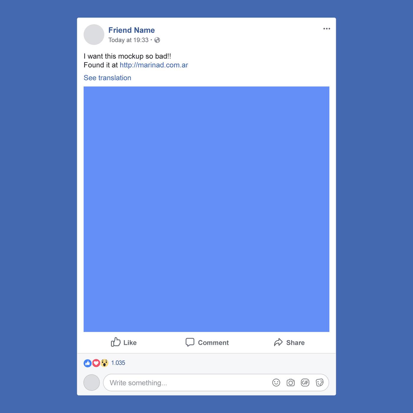 FREE Facebook PSD Post Mockup.