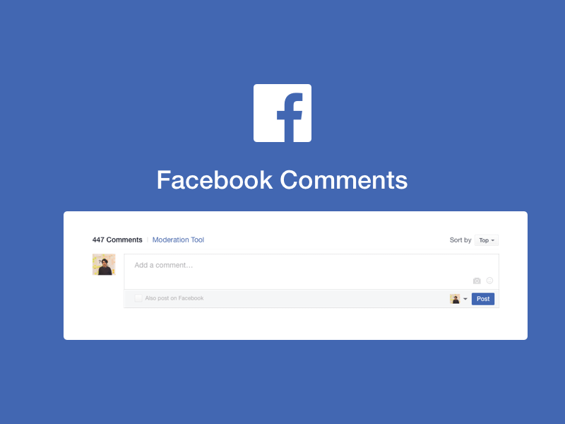 Facebook Comments Template Sketch freebie.