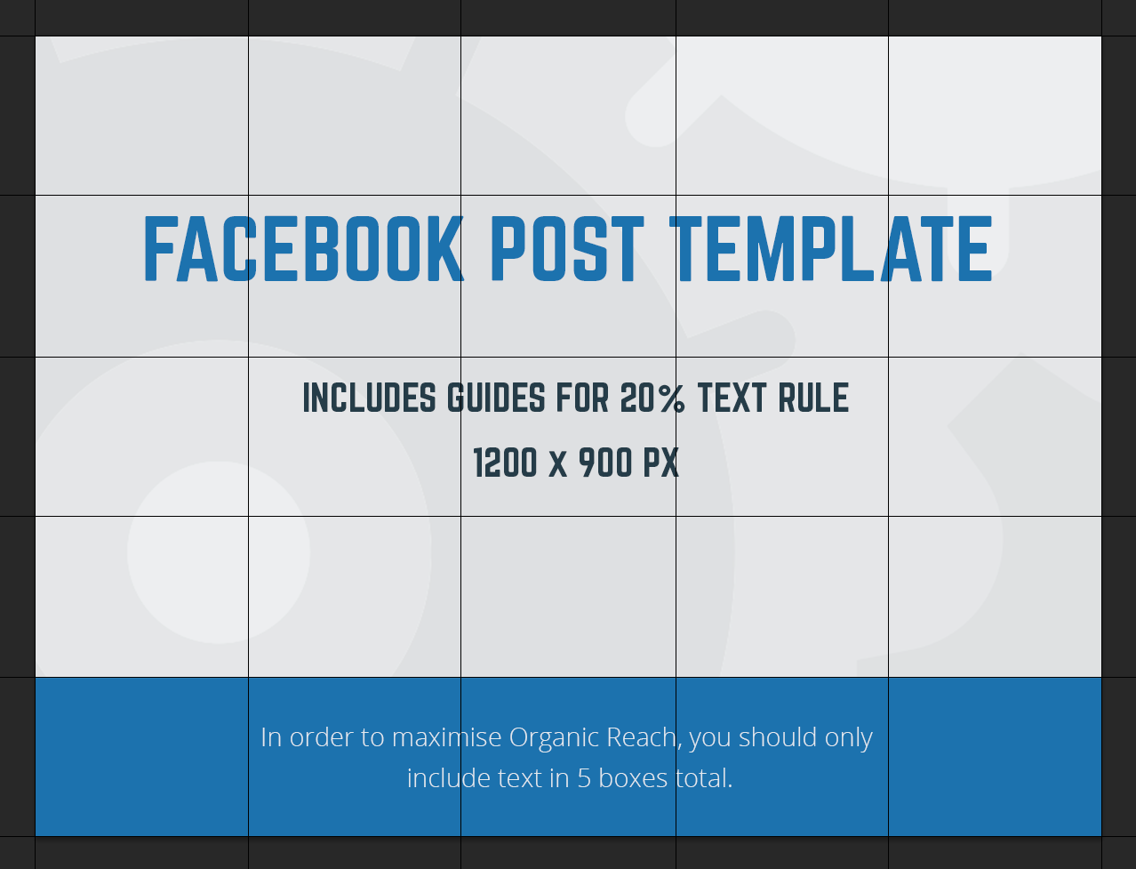 Facebook Post Template 2018.