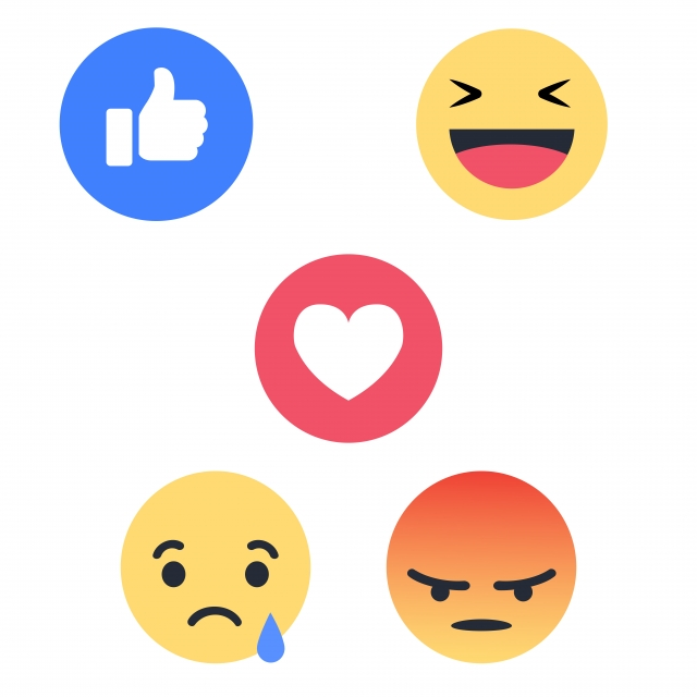 Facebook Reactions, Fb, Facebook React PNG and Vector with.