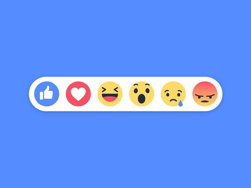 New Facebook Emoji Reactions Sketch freebie.
