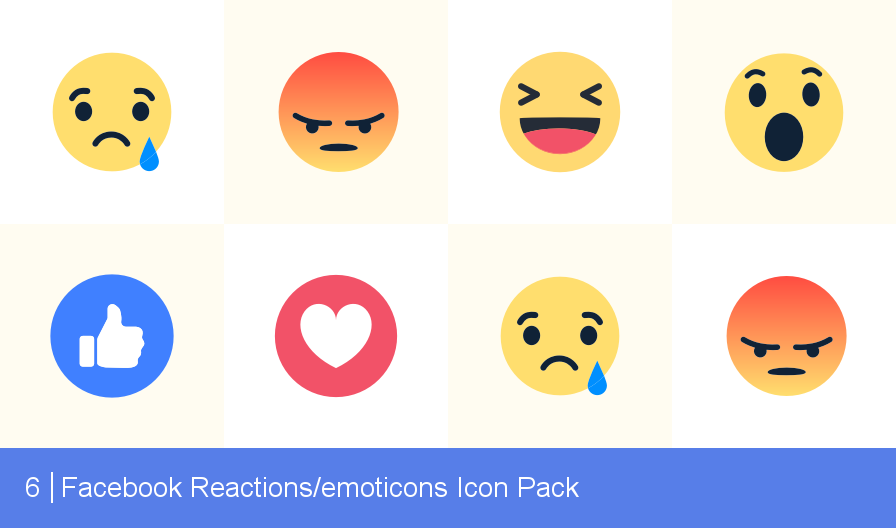 Download Free png Download Facebook Reactions/emoticons Icon pack.