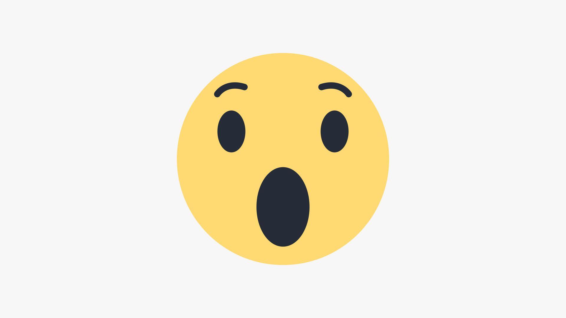 Draw Facebook \'Wow\' Emoji in Illustrator.