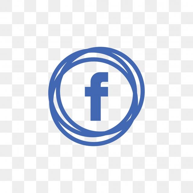 Facebook Social Media Icon Design Template Vector, Round, Circle.