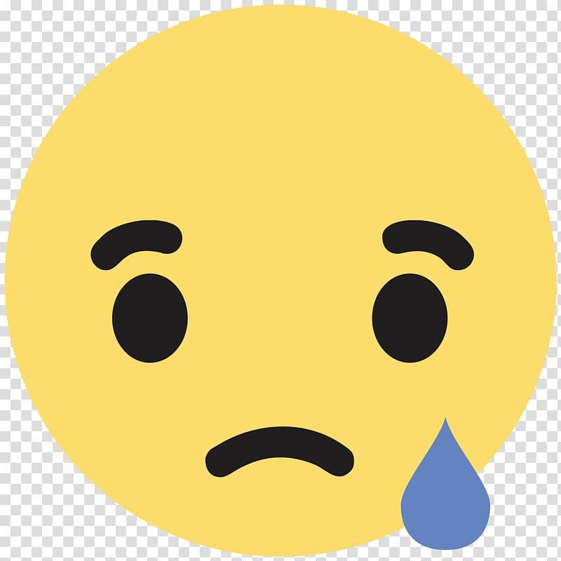 Sad emoji illustration, Facebook Like button Sadness.