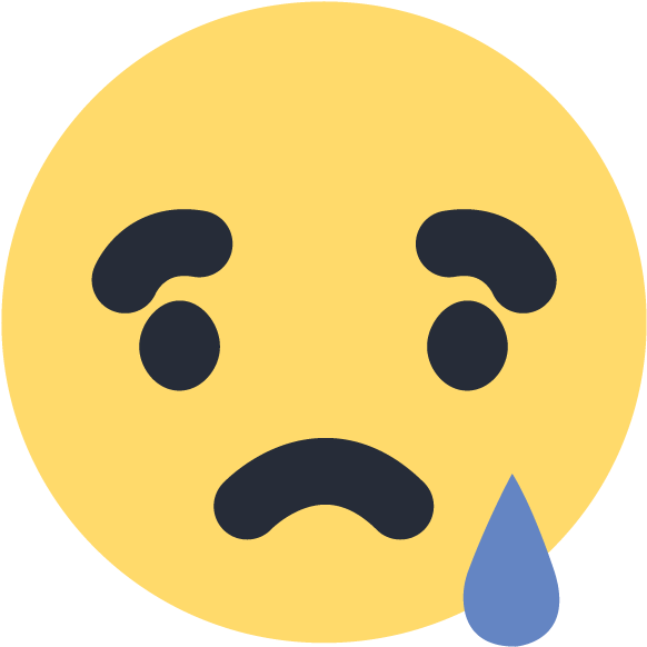 Facebook Sad Emoji Emoticon Icon Vector Logo.