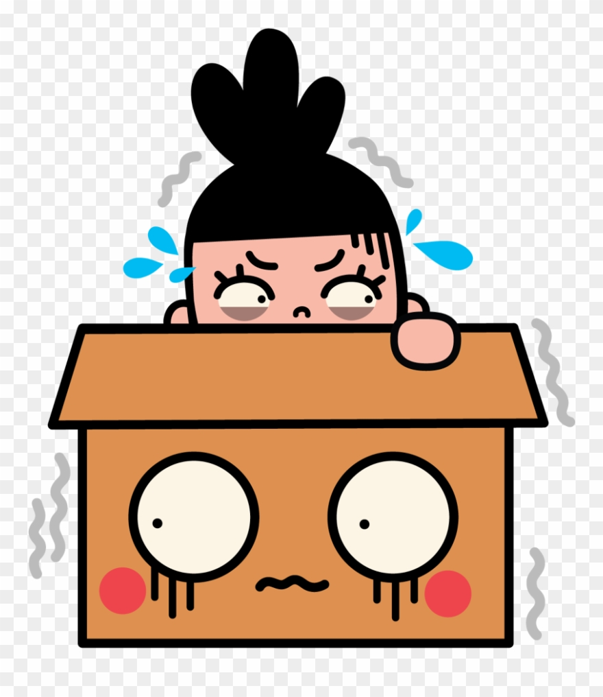 Facebook Stickers Box Girl Clipart (#898897).