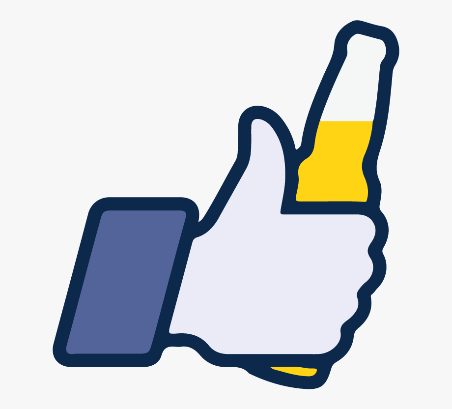 Facebook Like Beer Icon Vector Logo Thumbs Up Free.