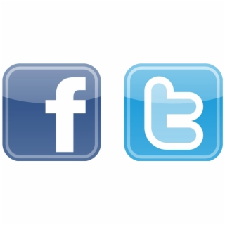 Facebook And Twitter Button, HD Png Download (168691 ).