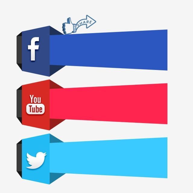 Social Media 3d Icon Facebook Youtube Twitter Icon, Social, Media.