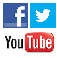 16 Social Media Facebook Twitter YouTube Icons PNG Images.