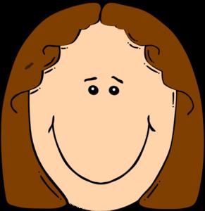 Smiley Faced Girl Clipart.