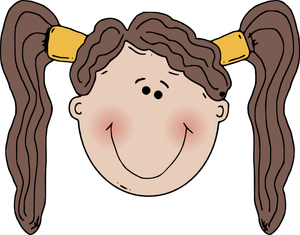 Smiley faced girl clipart.