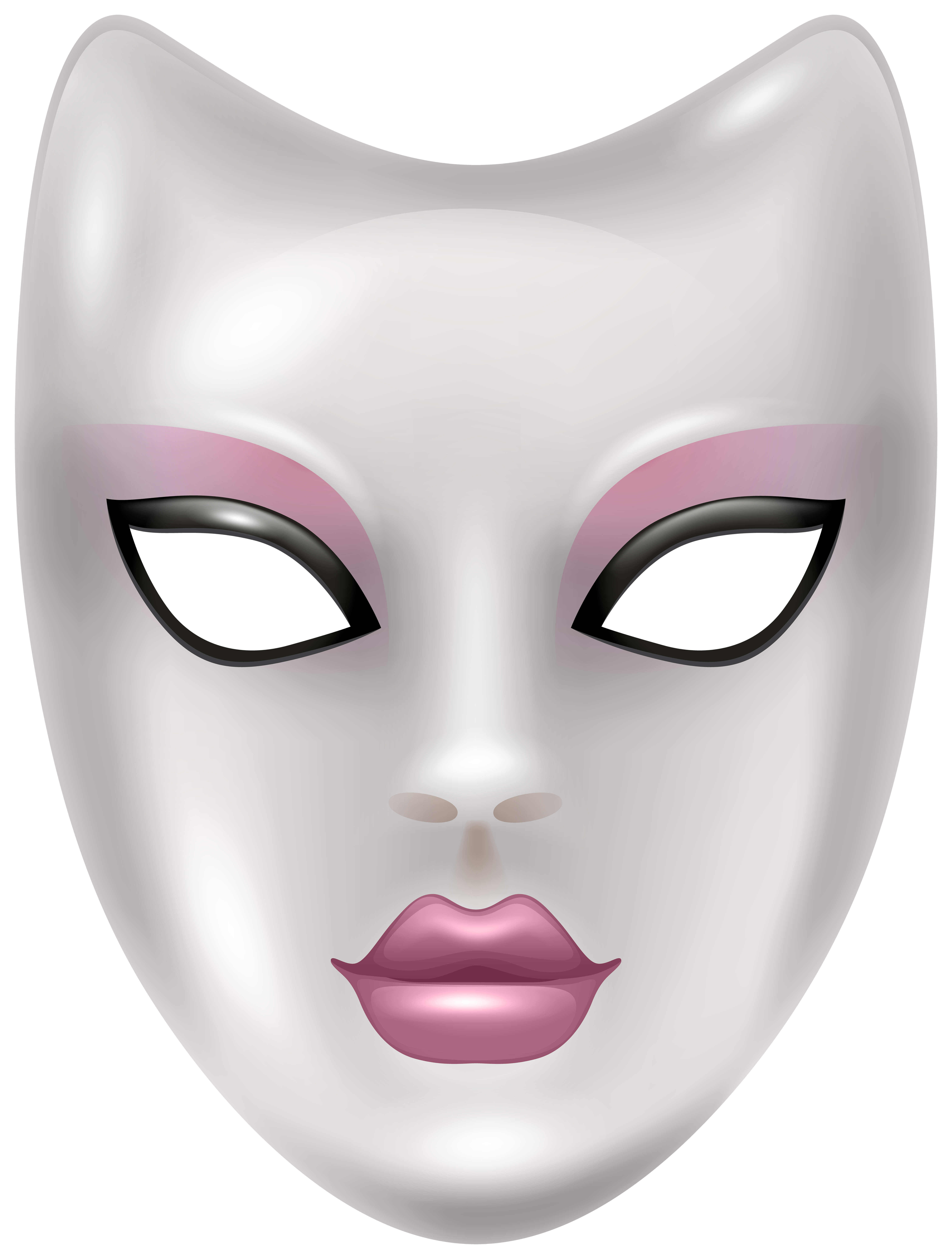 Carnival Face Mask PNG Clip Art Image.