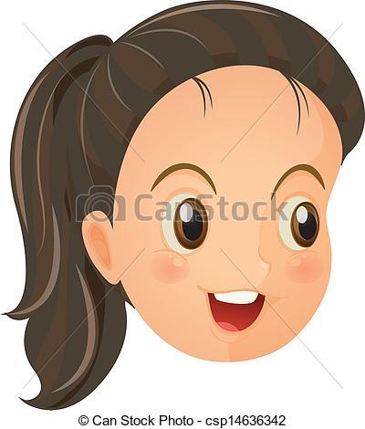 Girl Face Clipart.