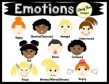 Emotions Clipart Kids Emotions Faces.